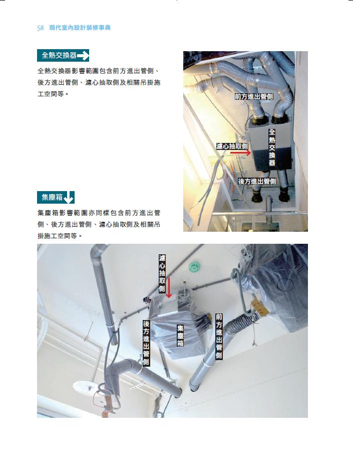 前後方進出管側 濾心抽取側 吊掛施工空間都影響全熱交換器的安裝決策.png